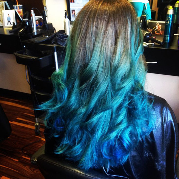 27 Trendy Blue Ombre Hairstyles 2019 Ombre Hair Color