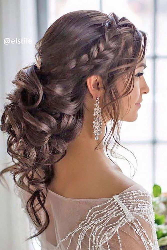 how to style long hair for wedding 30 beautiful wedding hairstyles bridal 3272 | 30 beautiful wedding hairstyles romantic bridal hairstyle ideas 2018 19